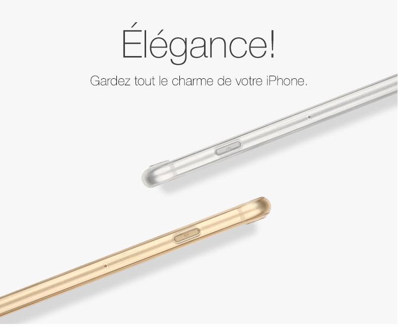 pic4 Invisible X : Coque iPhone 7 & 7 Plus, ultra fine avec protection décran