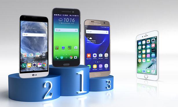 iPhone 7 vs smartphones Android : test d'autonomie