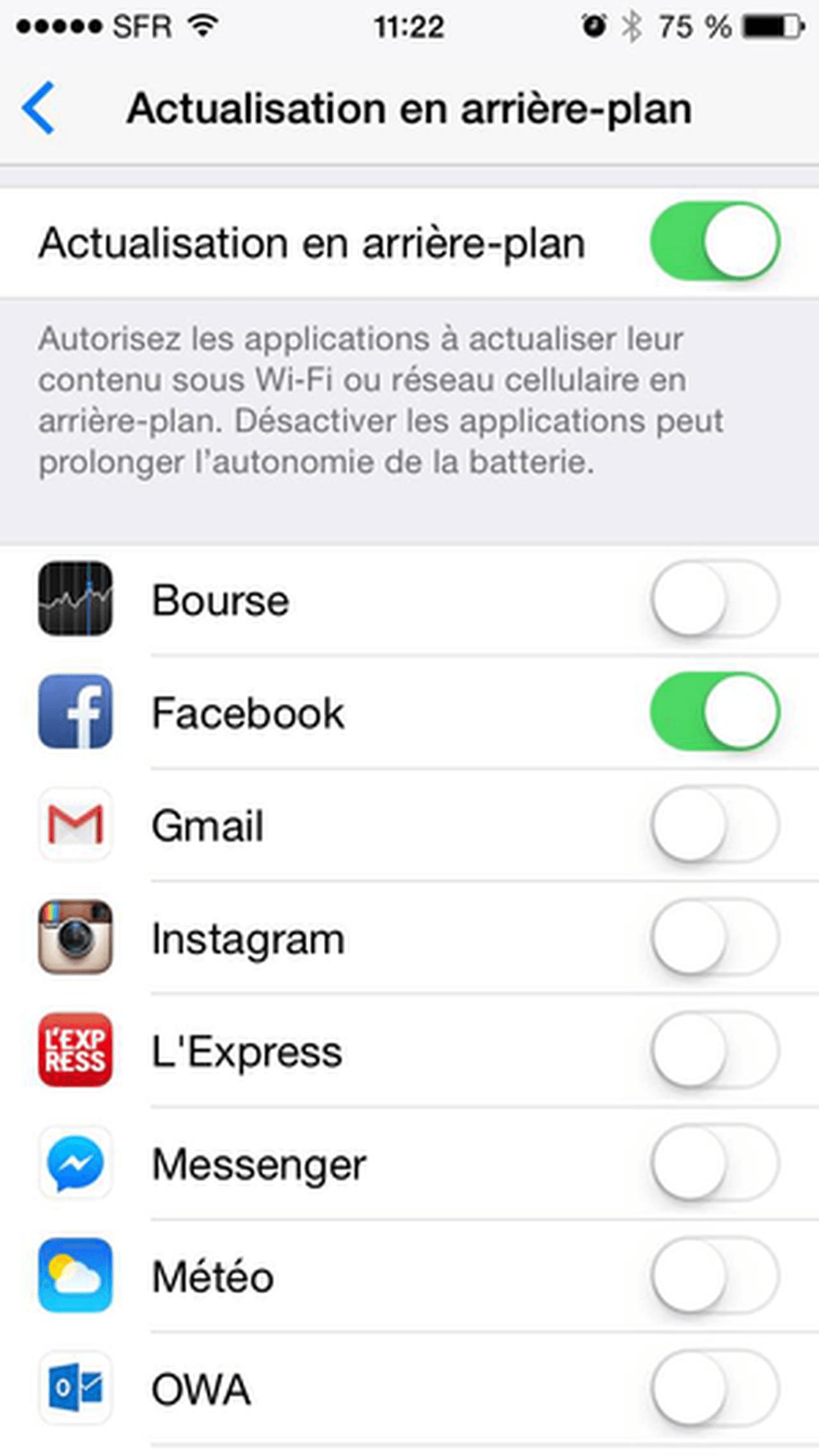 act en arriere Batterie iPhone 7 : économiser sa charge et augmenter lautonomie