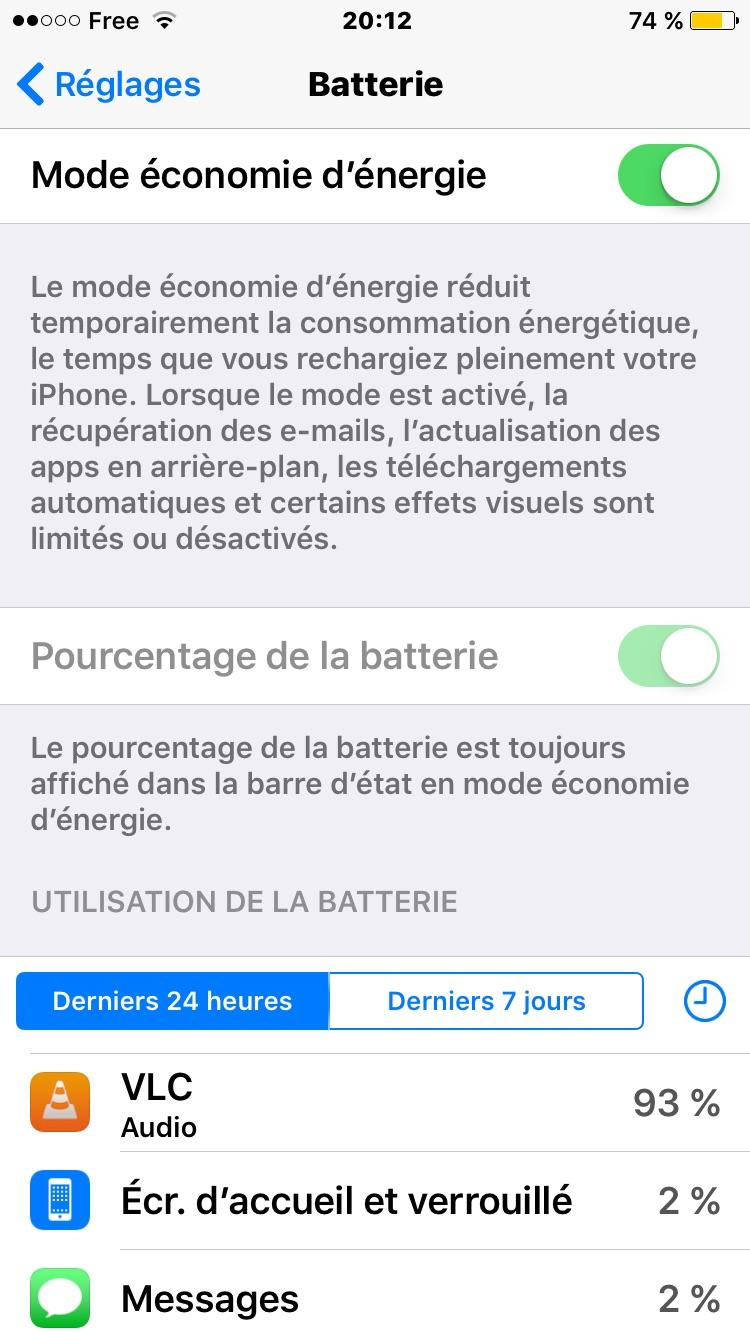 activer le mode economie denergie iPhone batterie en jaune Batterie iPhone 7 : économiser sa charge et augmenter lautonomie