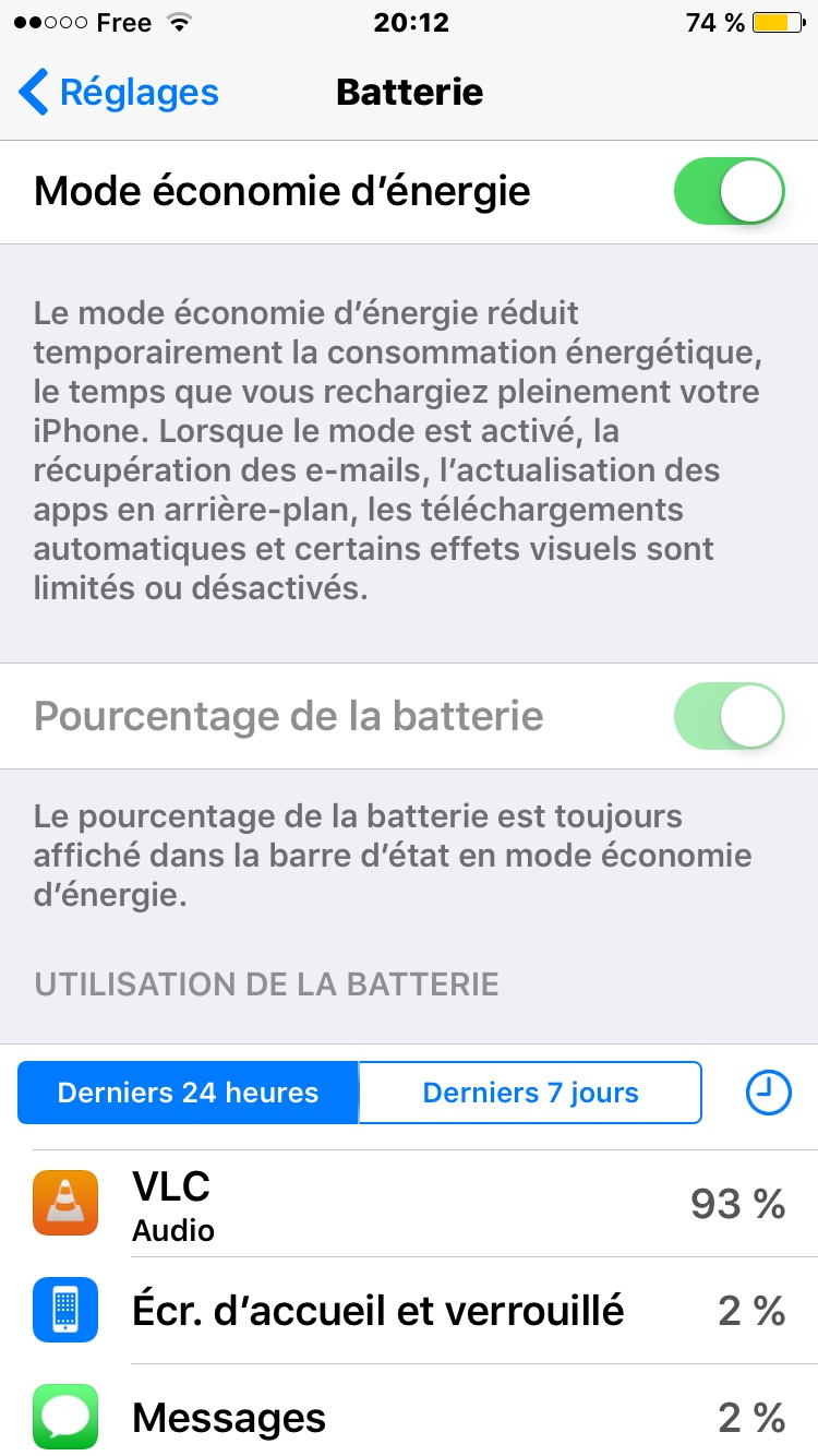 activer le mode economie denergie iPhone batterie en jaune Batterie iPhone 7 : économiser sa charge et augmenter lautonomie