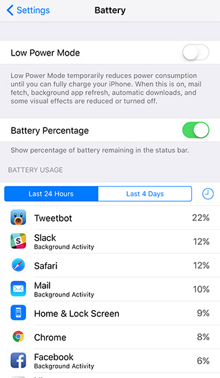 ios 9 battery usage Batterie iPhone 7 : économiser sa charge et augmenter lautonomie
