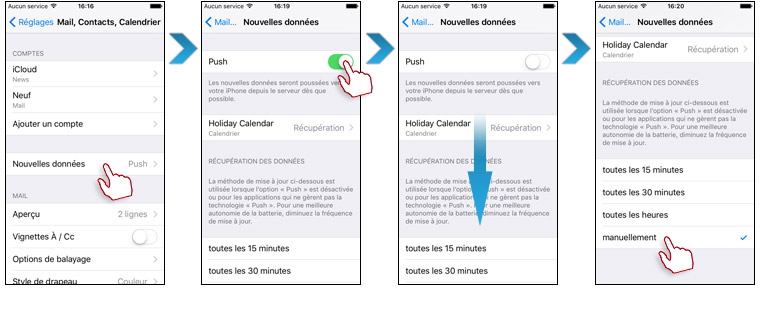 push mail iphone6s Batterie iPhone 7 : économiser sa charge et augmenter lautonomie