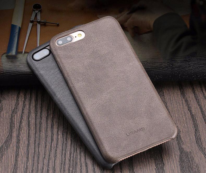 1 2 Coque en cuir pour iPhone 7 et 7 Plus (App4Shop)