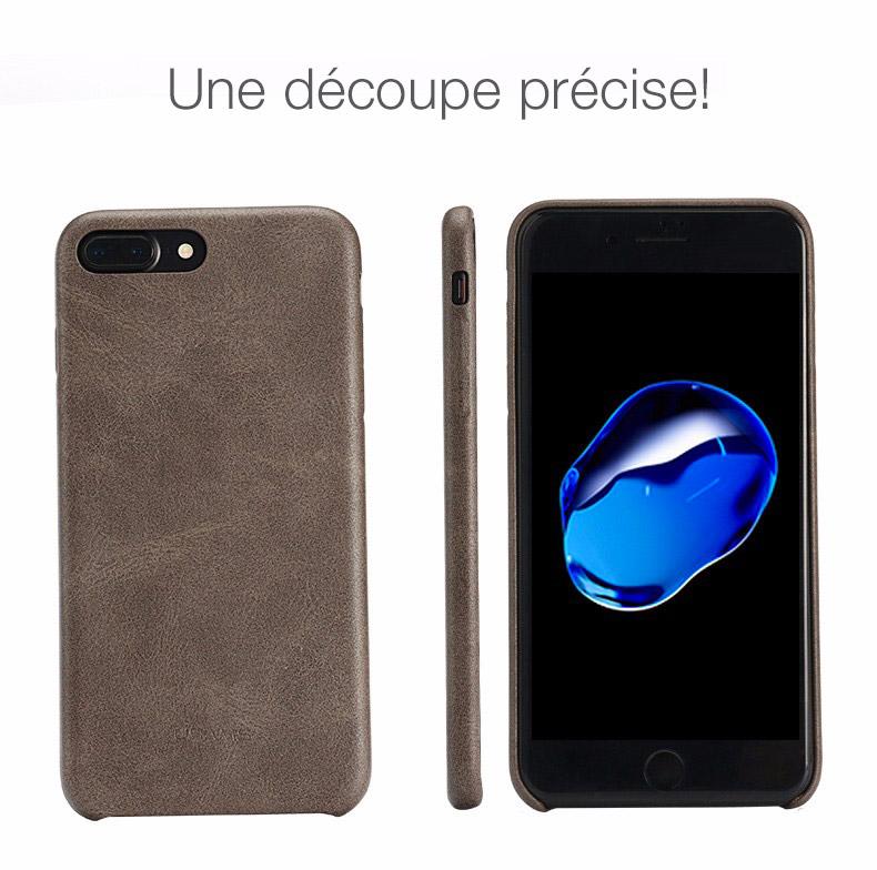 3 Coque en cuir pour iPhone 7 et 7 Plus (App4Shop)