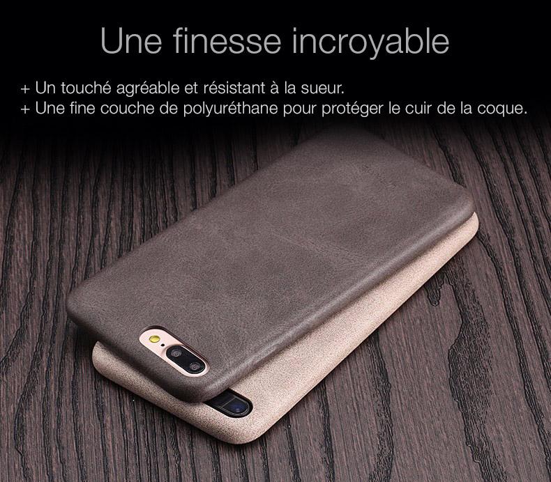 4 Coque en cuir pour iPhone 7 et 7 Plus (App4Shop)