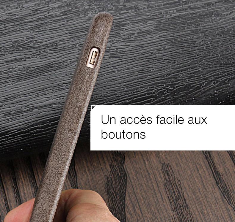 5 1 Coque en cuir pour iPhone 7 et 7 Plus (App4Shop)