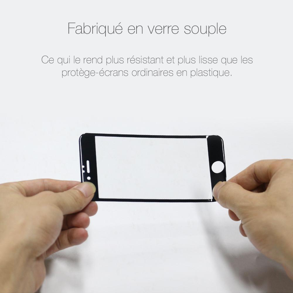 5 2 Protection décran iPhone 7 / 7 Plus intégrale 3D incurvée (App4Shop)