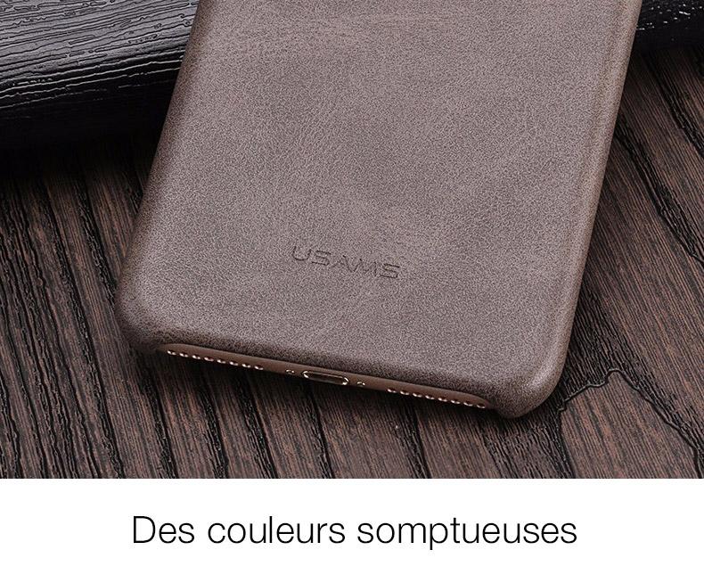 6 1 Coque en cuir pour iPhone 7 et 7 Plus (App4Shop)
