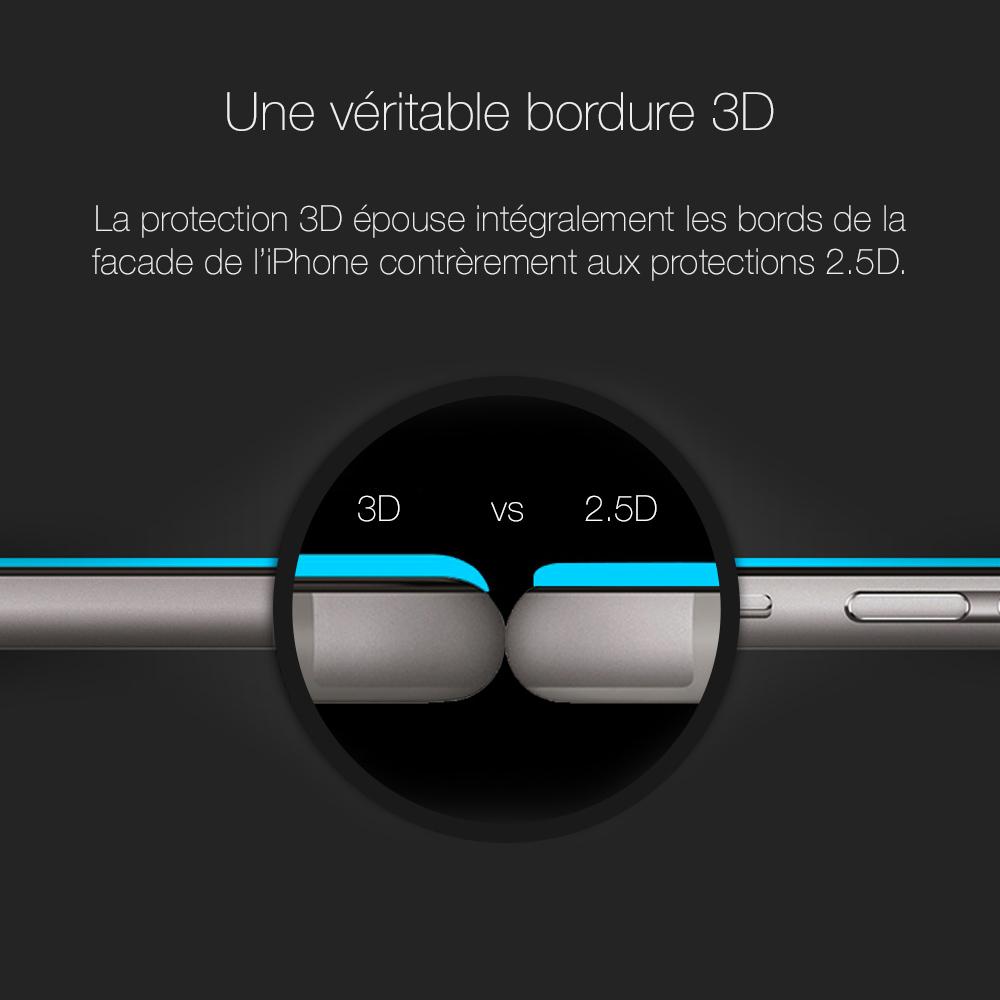 6 2 Protection décran iPhone 7 / 7 Plus intégrale 3D incurvée (App4Shop)