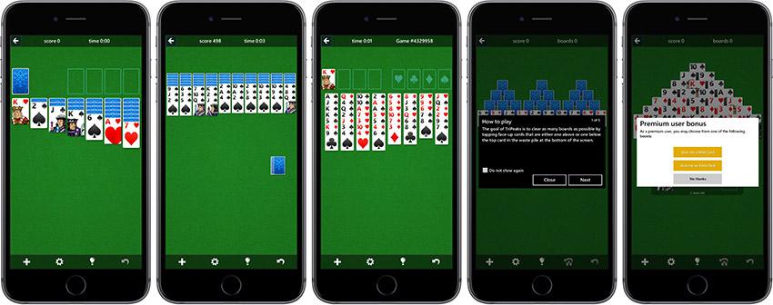 Microsoft Solitaire Collection for iOS Solitaire pour iPhone et iPad : Microsoft dévoile le célèbre jeu de cartes