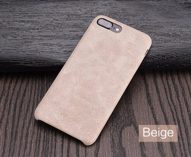 beige Coque en cuir pour iPhone 7 et 7 Plus (App4Shop)
