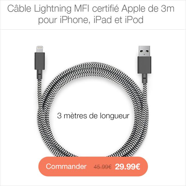 cable lightning CYBER MONDAY 24h sur la boutique App4Shop (jusquà  50%)