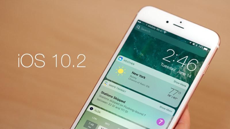 iOS 10.2 1 iOS 10.2 : la mise à jour disponible pour iPhone et iPad