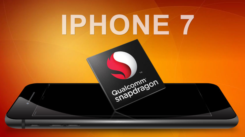 iphone 7 qualcomm e1479565394416 Apple a volontairement bridé le modem Qualcomm de liPhone 7