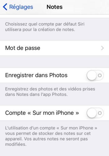Note settings 349x500 Notes iCloud : comment régler le problème de synchronisation