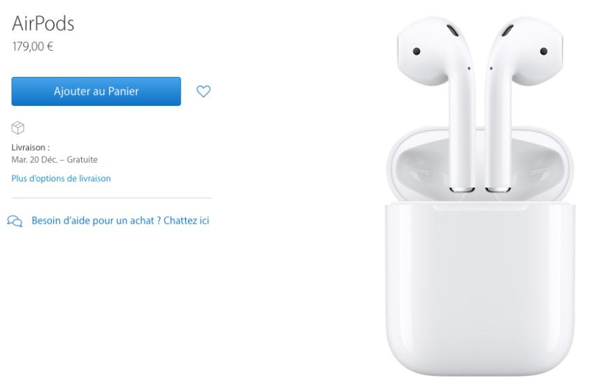airpods apple store e1481651164312 Les AirPods sont enfin disponibles sur lApple Store en ligne