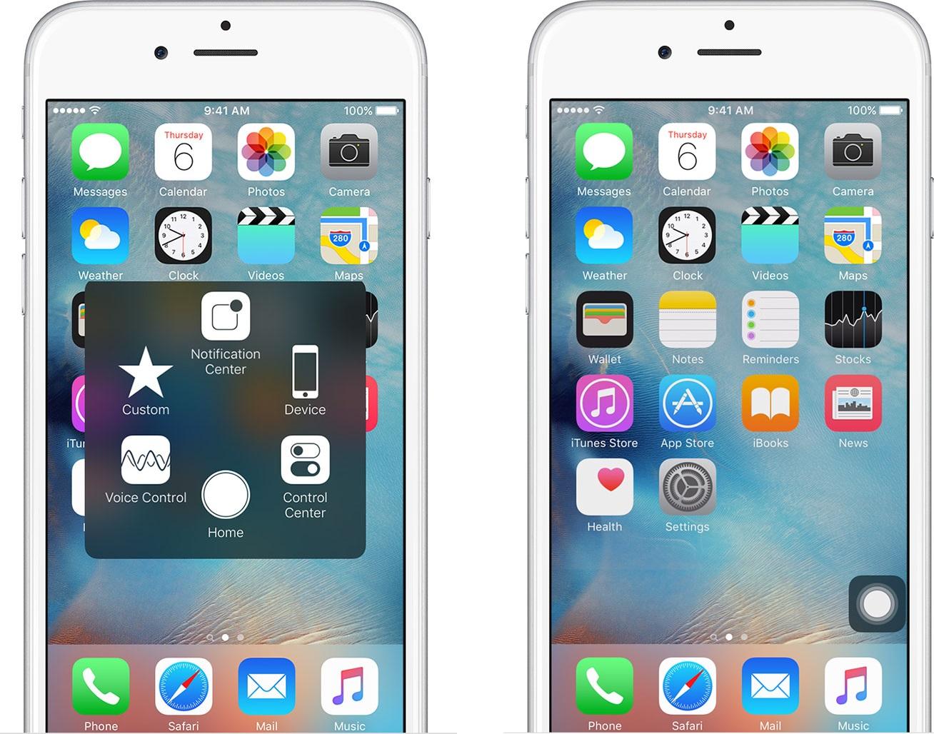 iOSassistivetouch Astuce iPhone : utiliser une partie défectueuse de lécran