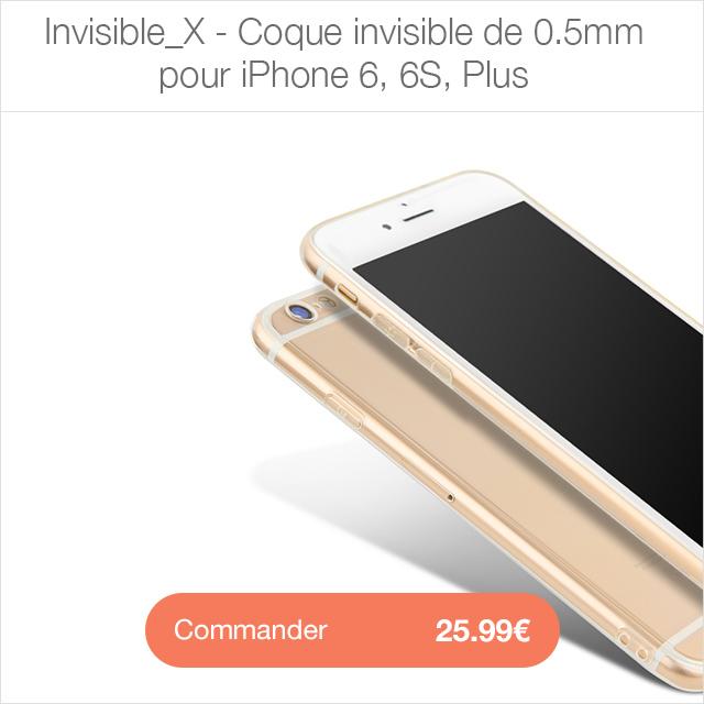 invisible X i6 Protection décran iPhone 7 / 7 Plus intégrale 3D incurvée (App4Shop)