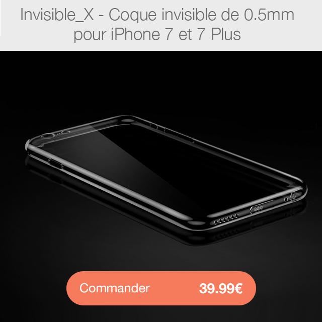 invisible X i7 Sky Clear : Coque iPhone 7 & 7 Plus, super fine avec protection décran
