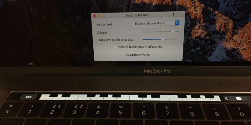 piano touch bar e1481472846996 [Vidéo] Jouez du piano sur la Touch Bar du MacBook Pro