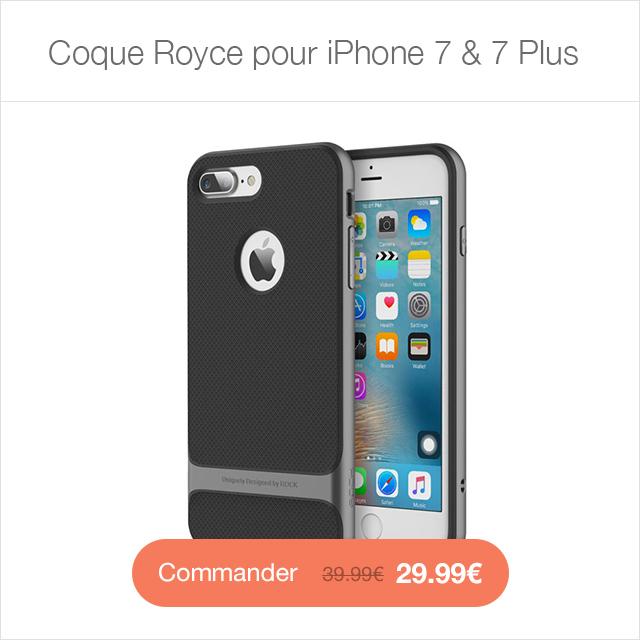 royce i7 A4S Sky Clear : Coque iPhone 7 & 7 Plus, super fine avec protection décran