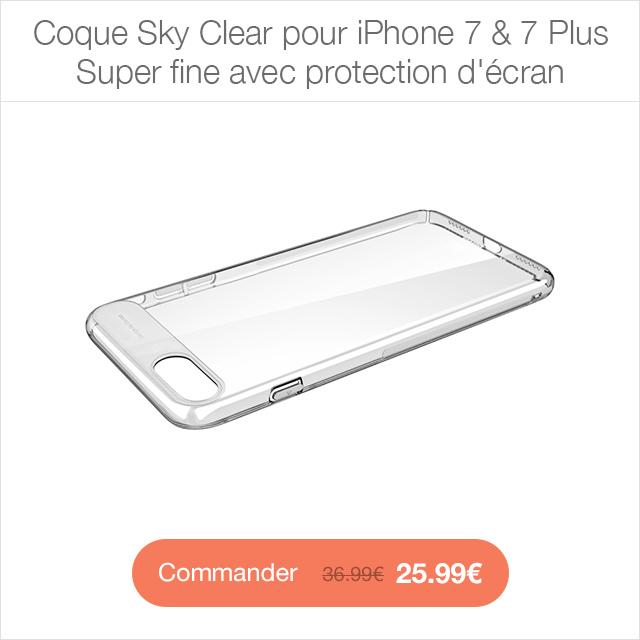 sky clear app4shop Coque Royce pour iPhone 7 & 7 Plus   Ultra résistante
