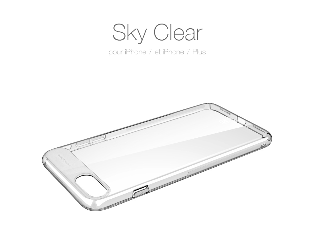 sky clear Sky Clear : Coque iPhone 7 & 7 Plus, super fine avec protection décran