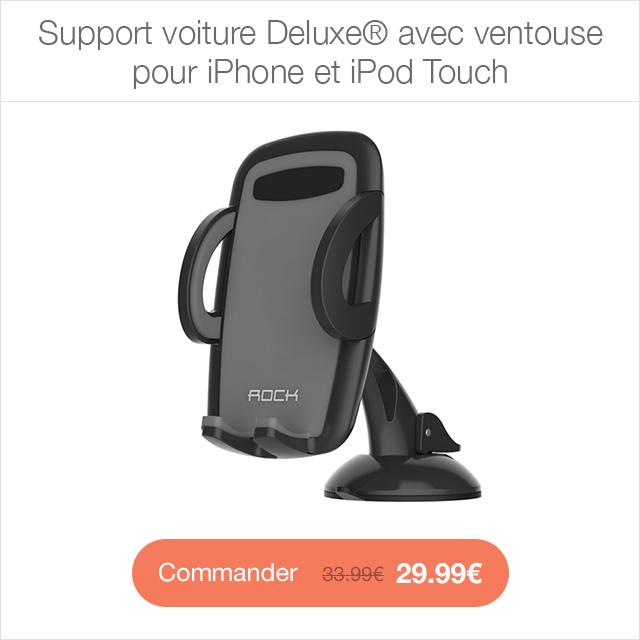 support voiture deluxe app4shop Câble de chargement Lightning vers USB (3m de longueur)