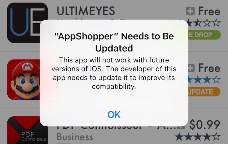 apps 32 bits Les applications 32 bits ne seront bientôt plus compatibles avec iOS