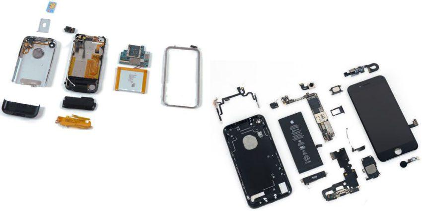 ifixit 10 ans iFixit publie un comparatif des 15 iPhone démontés en 10 ans