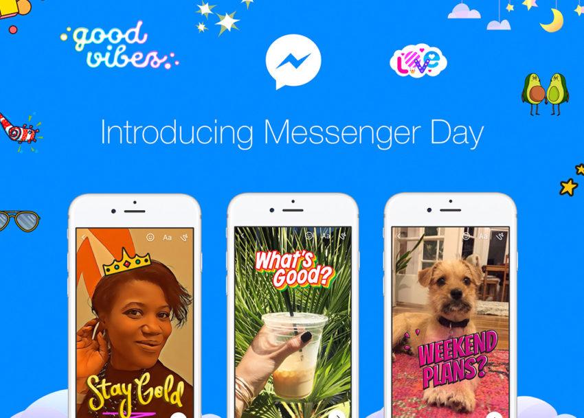 Facebook lance Messenger Day, des stories inspirées de Snapchat sur Messenger