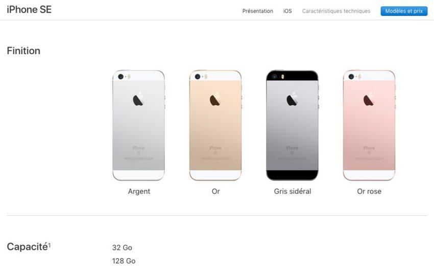 iphone se iPhone SE : Apple double les capacités de stockage sans changer le prix