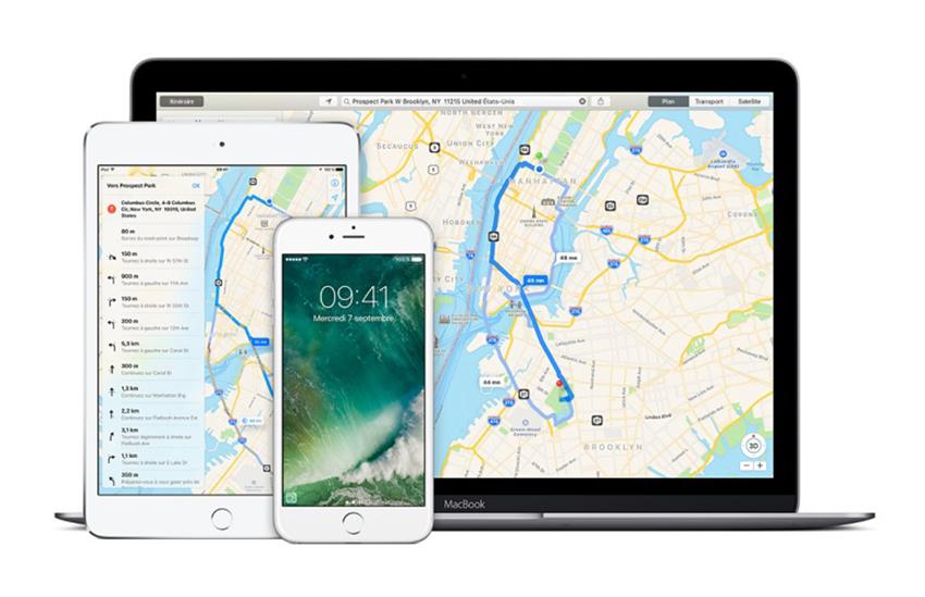 apple plans Apple Plans prend désormais en charge les transports en commun à Paris