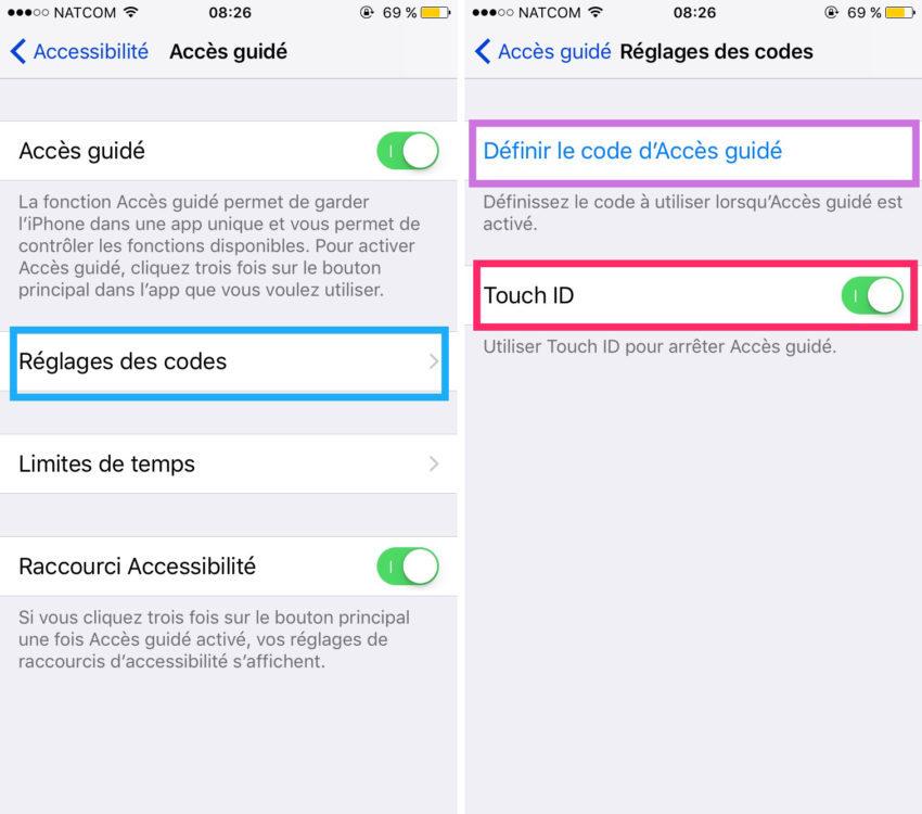 astuce acces guide codes 850x750 Tutoriel : comment utiliser lAccès guidé sur iPhone ou iPad