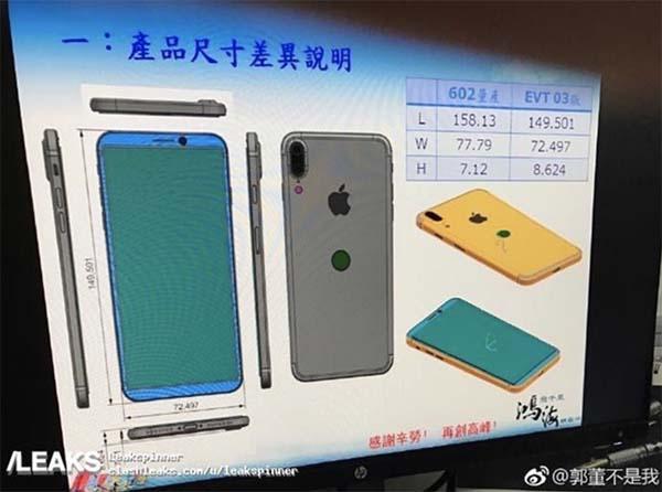 iphone 8 schema foxconn iPhone 8 / iPhone 7s : schéma en fuite, Touch ID au dos, 3 Go de RAM et port Lightning ?