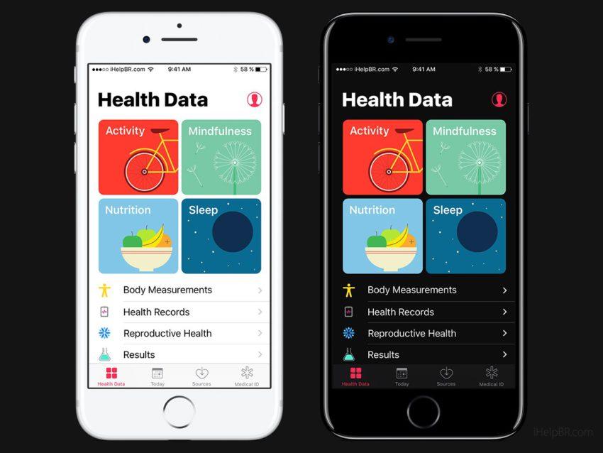 iOS 11 Concept Dark Health App Un concept diOS 11 inspiré du design dApple Music avec mode nuit