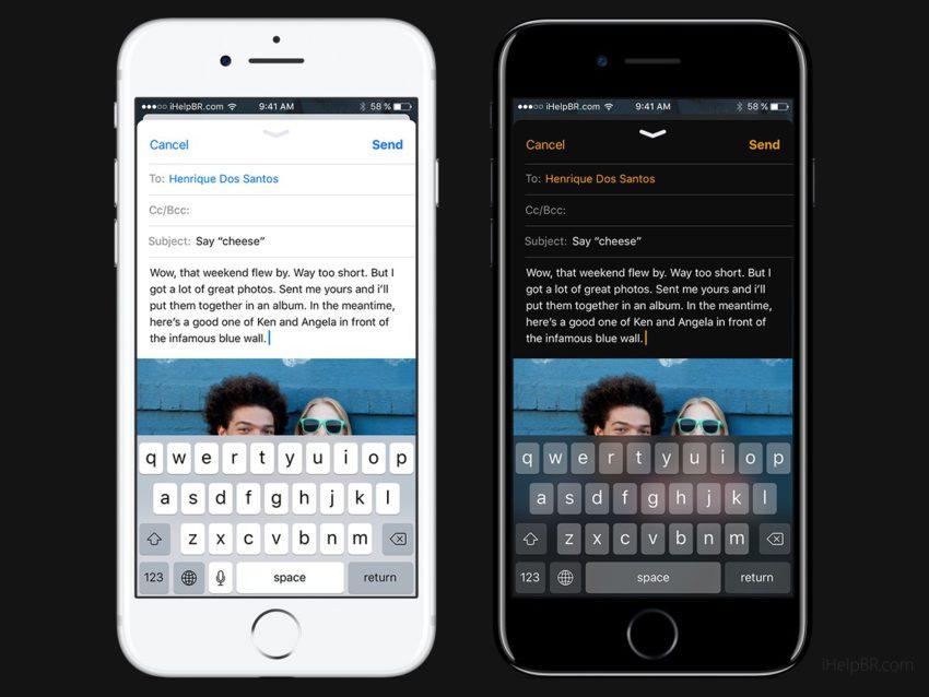 iOS 11 Concept Dark Mail App 2 Un concept diOS 11 inspiré du design dApple Music avec mode nuit