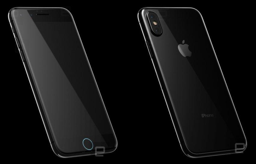 iphone 8 front back iPhone 8 : de nouveaux rendus 3D signés Engaget