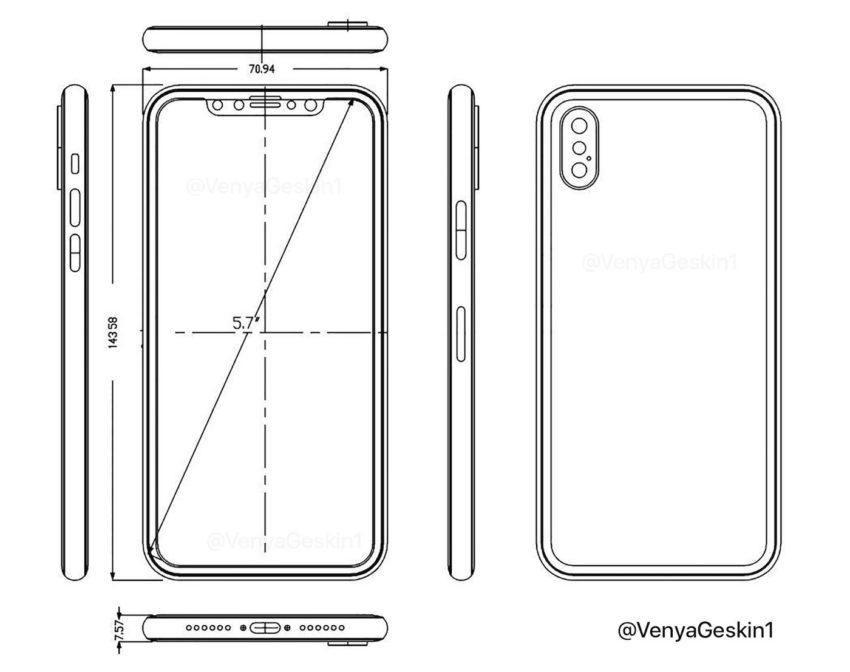 schema iPhone 8 iPhone 8 : nouvelles photos et vidéo dune maquette et un schéma en fuite
