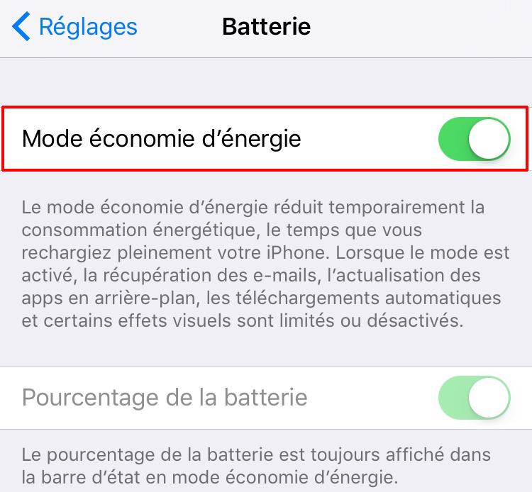 tuto economie energie 2 2 Astuces iPhone : quelques techniques indispensables pour la plage cet été