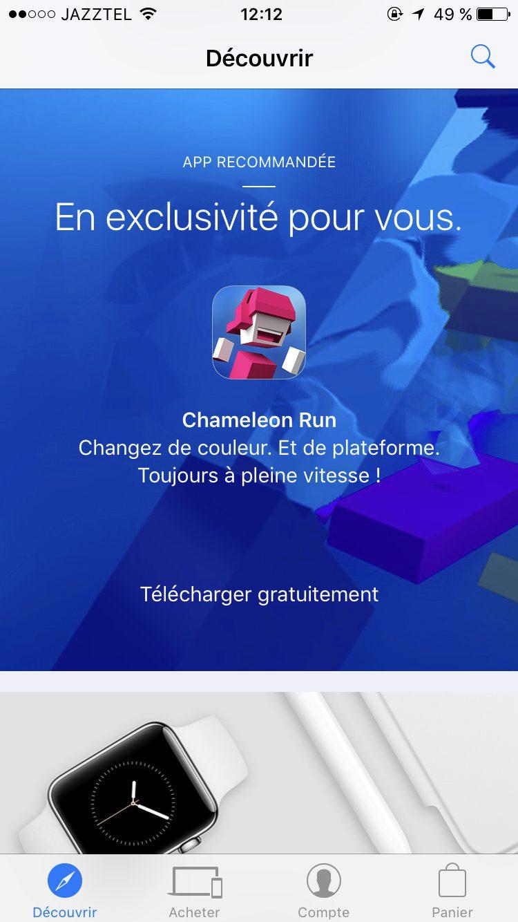 IMG 0254 Bon plan   Chameleon Run gratuit sur lApple Store