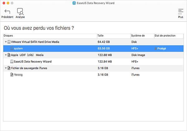 Mac tutorial02 Récupérer les données de son Mac grâce à EaseUS Data Recovery Wizard for Mac
