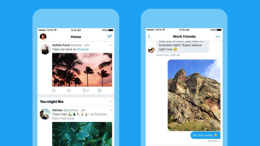 Nouveau Design Twitter Twitter iOS se met à jour avec un nouveau design et de nouvelles fonctionnalités