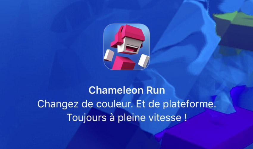 chameleon run gratuit Bon plan   Chameleon Run gratuit sur lApple Store
