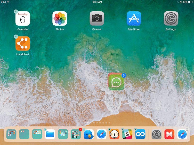 deplacement apps groupe ipad ios 11 iOS 11   Le système dexploitation qui va révolutionner liPad