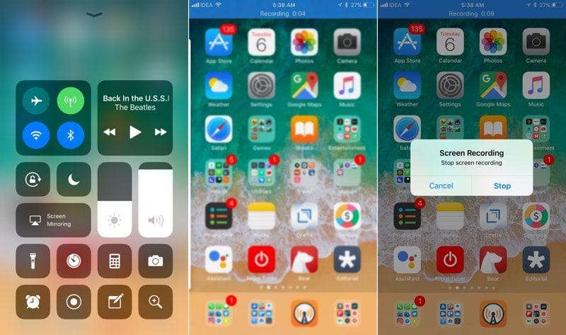 Ios 11 screen recorder permet d 39 enregistrer votre cran for Photo ecran ios 11