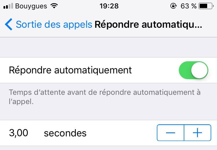 iOS 11 Beta 1 repondre appel auto iOS 11 : possibilité de répondre à un appel de façon automatique