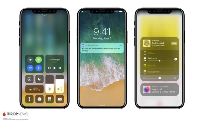 iPhone 8 Concept iOS 11 iPhone 8 : Apple penserait à remplacer Touch ID par la reconnaissance faciale