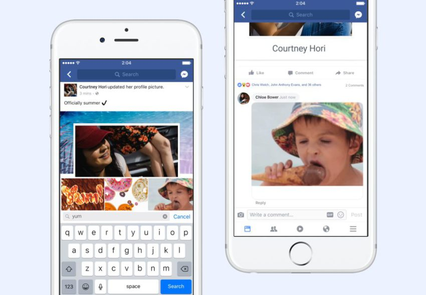 newsroom hero2x Les gifs maintenant possible dans les commentaires facebook sur iOS